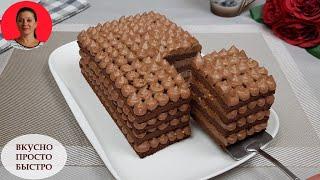 Шоколадный Торт БЕЗ Муки и БЕЗ Сахара Вкусный Торт за Час Домашний Рецепт SUBTITLES