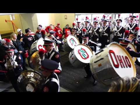Ohio State Marching Band Percussion Show Marching Into Skull Bass Drums 10 17 2015 OSU vs PSU
