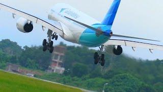 Perbandingan Cara Landing Pesawat Citilink vs Garuda Indonesia (Video Pesawat Terbang Indonesia)