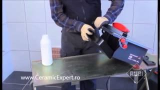 Masina de taiat gresie faianta si alte materiale compacta Rubi ND180 cu apa