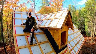 Insulating on TOP of the Cabin Roof...but why? / Log Cabin Update- Ep 13.15