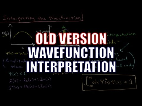 Quantum Chemistry 3.4 - Interpreting the Wavefunction (Old Version)