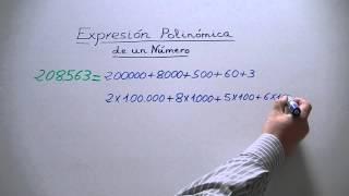 Expresión polinómica de un número