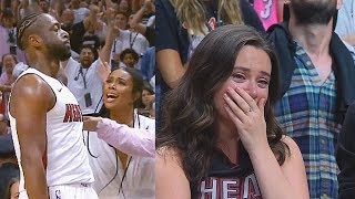 Dwyane Wade Shocks Crowd In Last Minutes Of His FINAL MIAMI HEAT GAME! Heat vs Sixers