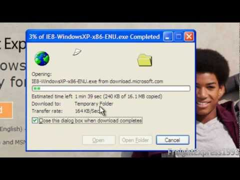 How To Download & Install (upgrade from IE6 or IE7 to) Internet Explorer 8 on Windows XP