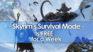 Skyrim's New Creation Club Survival Mode is FREE... for a Week.