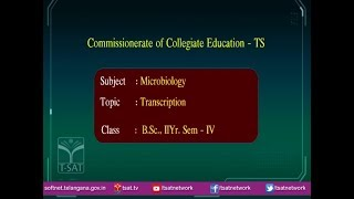 T-SAT || CCE || Microbiology - Transcription || LIVE With Dr.N.Harikrishna