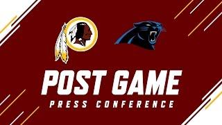 Redskins vs. Panthers Jay Gruden Press Conference