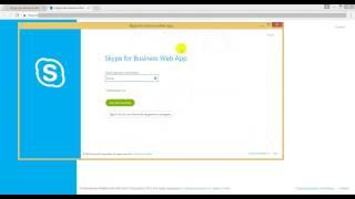 подключение к конференции Skype for Business (на примере Google Chrome)