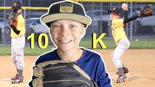 ⚾️Kid Pitches 10 STRIKEOUTS in Baseball Game ⚾️ Giants vs Rockies