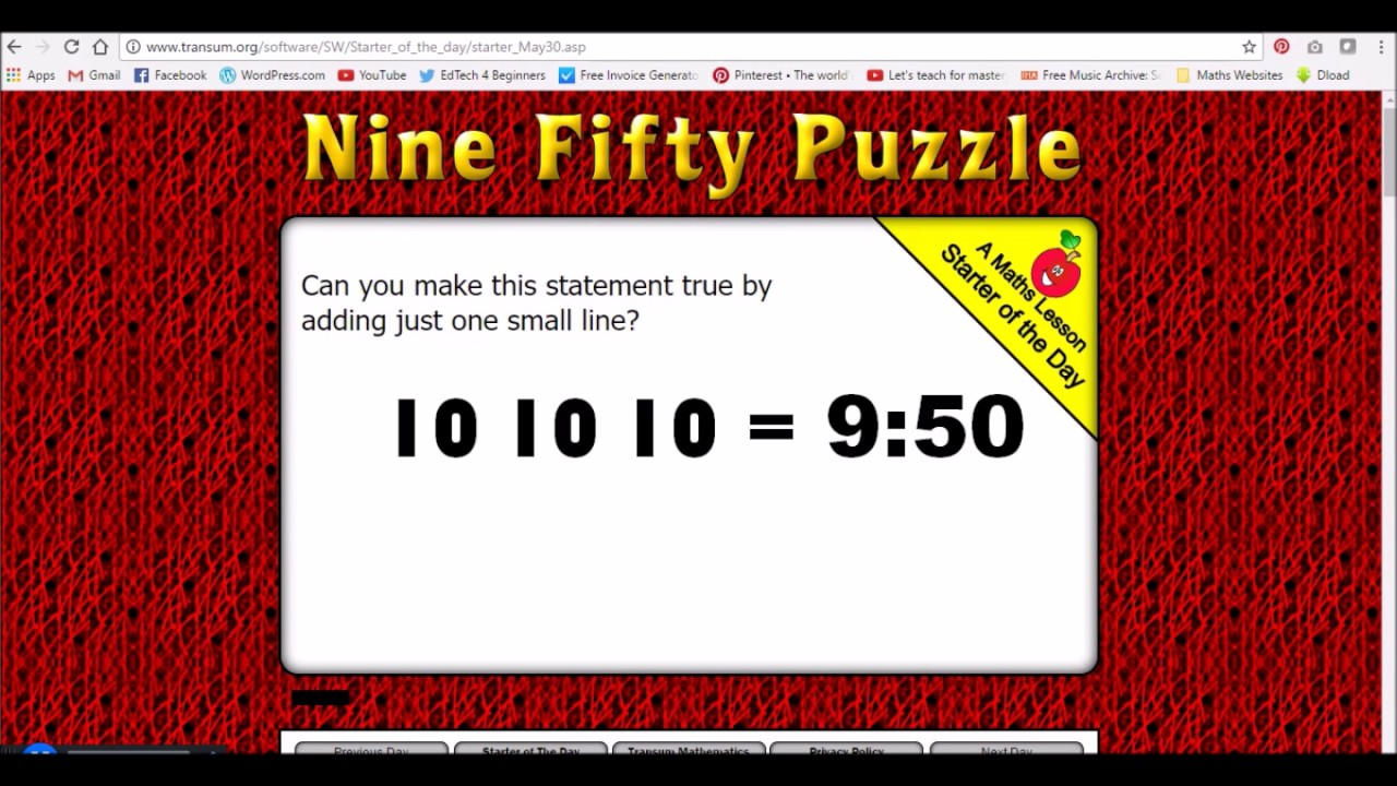 8 Excellent Websites To Use For Maths Starters - YouTube