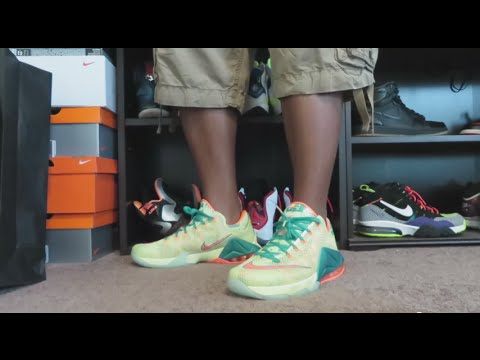 ccf12f8aa17 LEBRON 12 LOW PRM  LEBRONOLD PALMER  REVIEW AND ON FEET!!! - YouTube