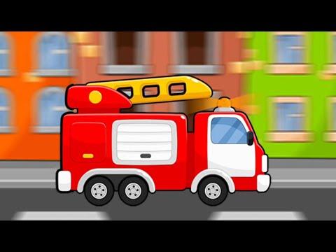 Мультик Пожарная машина и Полицейская машина | Игры для детей