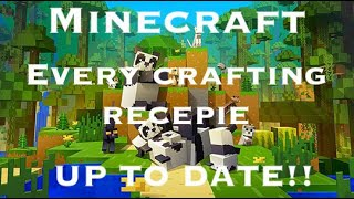 Minecraft: All Crafting Recipes (1.11) (Up To Date)