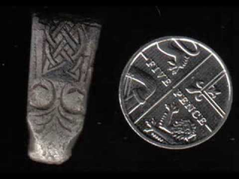 Tesoro Silver Sabre - Anglo Saxon Silver Strapend.circa 800-900.
