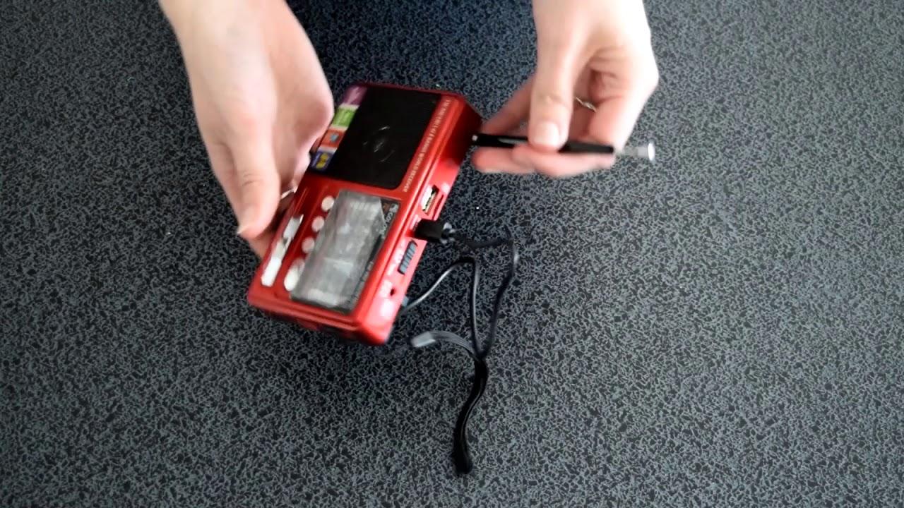 Компактный радиоприемник Golon с USB и микро-SD разъёмами для воспроизведения аудиофайлов, 1004001