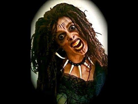 VooDoo Witch Halloween Makeup. - YouTube