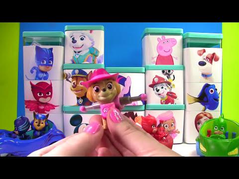 Huge Paw Patrol & Nick Disney Jr Blind Box Toy Surprise Show! PJ Masks & Mickey