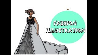 Fashion Illustration - Original wedding dress kebaya Indonesia