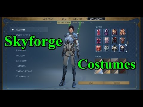 Skyforge - Female Costumes & Style Room
