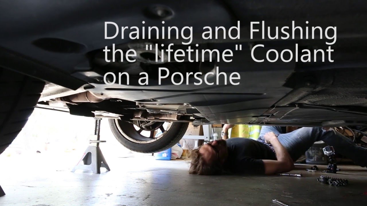 How To Drain And Flush The Coolant On A Porsche Boxster Youtube Engine Cooling Diagram