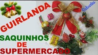 GUIRLANDA DE SAQUINHOS DE SUPERMERCADO