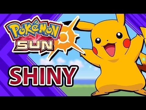 POKEMON SUN AND MOON | SHINY PIKACHU IN 83 SOS ENCOUNTERS