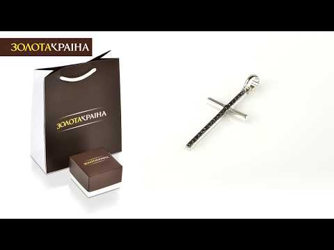 [Zolotakraina.ua] Золотой крестик с бриллиантами (51950/б ч)
