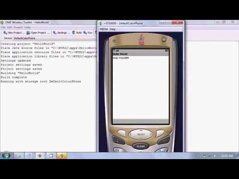 How to run basic J2ME Hello World program