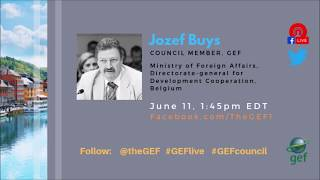 Jozef Buys on #GEFlive 56th GEF Council