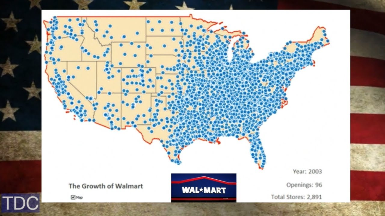 The United States Of Walmart YouTube - Us map walmart