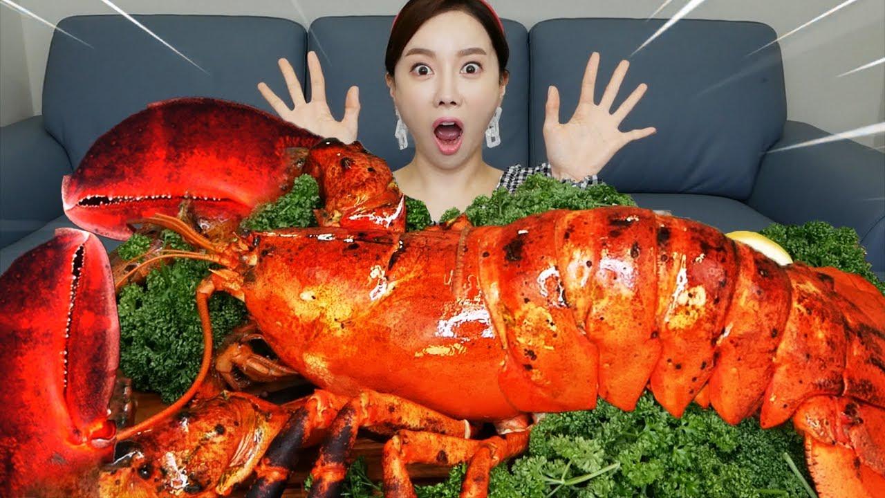 [Mukbang ASMR] 싱싱한🦞 대왕 랍스터 먹방! Gaint King Lobster Eatingshow realsound Ssoyoung