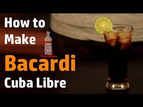 How To Make Bacardi Cuba Libre | A Rum Cocktail