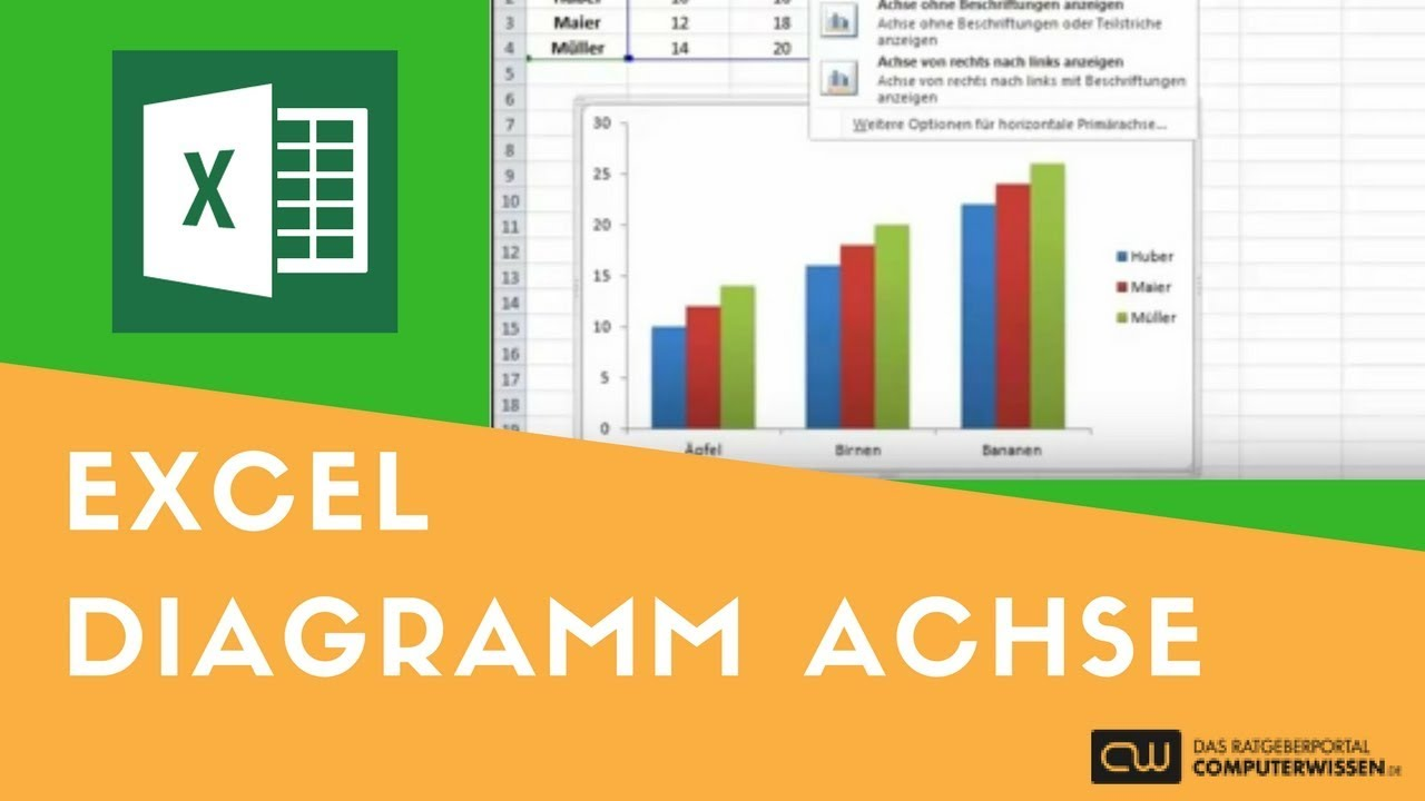 Excel Diagramm Achse - TUTORIAL - YouTube