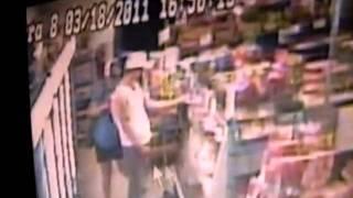 robbery suspect caught on tape  Bills grocery store Dalton Georgia