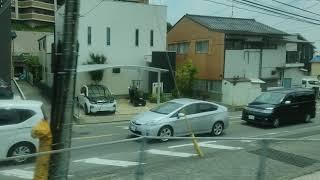 【鹿児島本線】《817系》(V-3007)側面展望〔快速〕久留米駅行き 香椎駅〜博多駅(フルHD30fps)左側