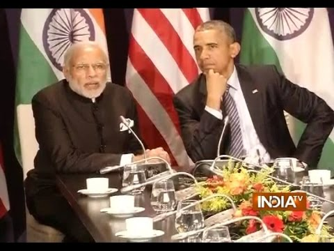 PM Modi with Barack Obama Interacts with Media over Paris Climate Change