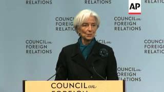 IMF chief Lagarde says global ecomony faces major threats in 2015