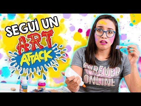 SEGUÍ un TUTORIAL de ART ATTACK 🎨 *Hice un desastre*😅 ✄ Craftingeek thumbnail