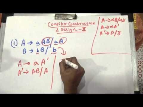 Elimination of Left Factoring - Compiler Construction & Design - 2