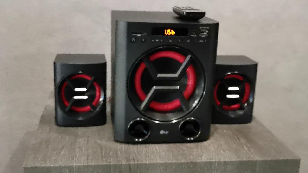 LG LK72B 2.1 Mini-HiFi Anlage XBOOM mit 40 Watt USB, SD-Speicherkarten-Slot, Bass Blast+