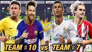 TEAM NUMERO 10 vs TEAM NUMERO 7 ... Quien es mejor? - FIFA 18 Modo Carrera