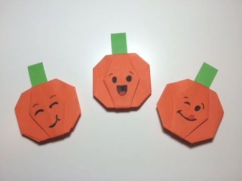 Halloween Spin Knutselen.Origami Met Kinderen Pompoentjes Vouwen Van Papier