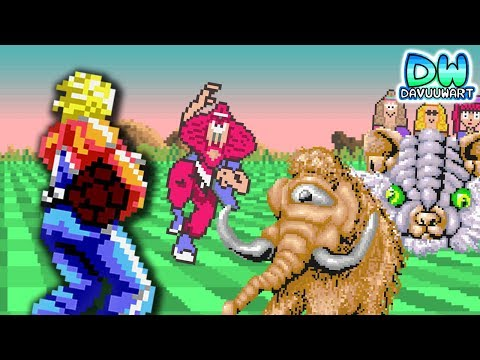 Watch out: Space trees | ANIMATION | Space Harrier