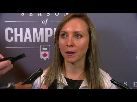 2017 Tim Hortons Roar of the Rings - Media Scrum - Women's Semifinal
