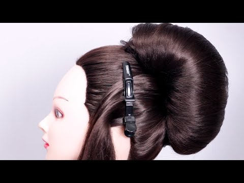 Big French Bun Hairstyle with New Trick | French roll | new hairstyle | French Bun hairstyle thumbnail