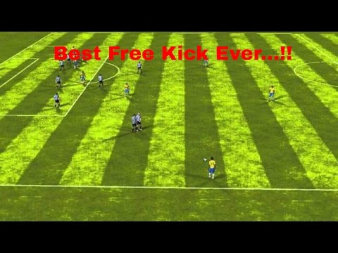 Best free kick  ever from NEYMAR..... FIFA 14 Android - Argentina VS Brazil