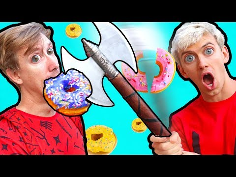 NINJA WEAPONS VS DONUTS!!