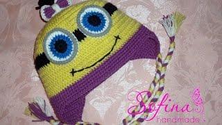 Шапка крючком Миньон Crochet Minion Hat
