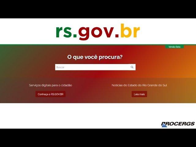 Governo lança portal rs.gov.br com novos serviços digitais para a população, acesse e confira. O estado na palma da sua mão.